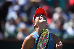Belinda Bencic (SUI) during her quarter final round match at the 2018 Indian Wells Masters 1000 at Indian Wells Tennis Garden, California, USA, on March, 14, 2019. Photo by Corinne Dubreuil/ABACAPRESS.COM