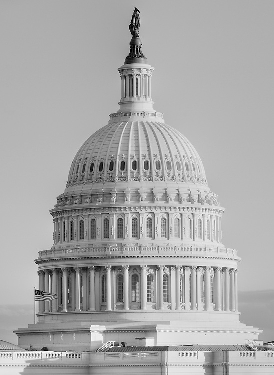 Photograph of the United States Capitol Building dome in Washington, DC. Photograph of the United States Capitol Building dome in Washington, DC. Print Size (in inches): 10x13.5, 15x20.5; 24x32.5, 36x49, 48x65, 60x82.
