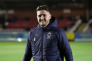 AFC Wimbledon goalkeeper Joe McDonnell (24) walking onto the pitch during the EFL Trophy group stage match between AFC Wimbledon and Stevenage at the Cherry Red Records Stadium, Kingston, England on 6 November 2018.