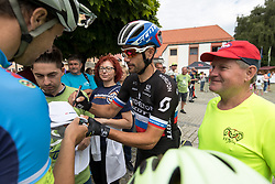 Luka Mezgec of Mitchelton Scott signing autographs during 3rd Stage of 25th Tour de Slovenie 2018 cycling race between Slovenske Konjice and Celje (175,7 km), on June 15, 2018 in  Slovenia. Photo by Matic Klansek Velej / Sportida
