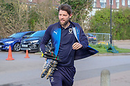 AFC Wimbledon midfielder Anthony Wordsworth (40) arriving during the EFL Sky Bet League 1 match between AFC Wimbledon and Doncaster Rovers at the Cherry Red Records Stadium, Kingston, England on 9 March 2019.