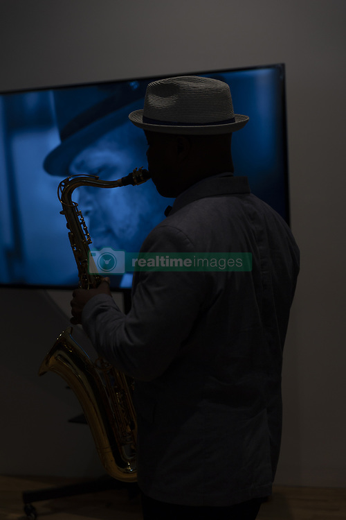 June 15, 2018 - New York, New York, United States - JD Allen performs at LoveSTone CD release and Bart Babinski photography party at Hasselblad Experience Studio. (Credit Image: © Photographer Lev Radin/Pacific Press via ZUMA Wire)