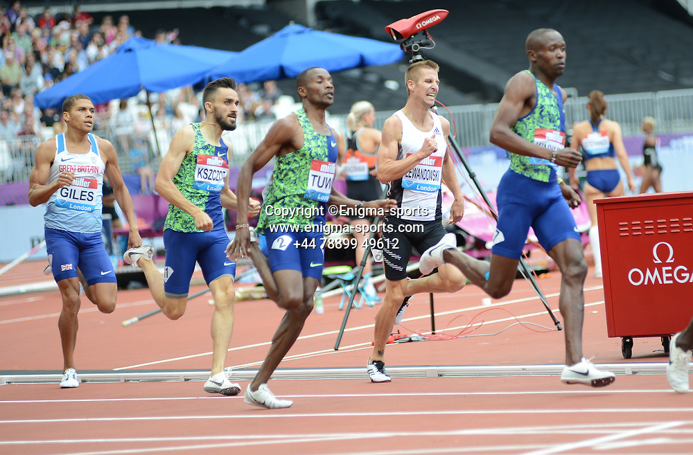 Competitors in the men's 800m during the IAAF Diamond League at the Queen Elizabeth Olympic Park London, England on 20 July 2019.