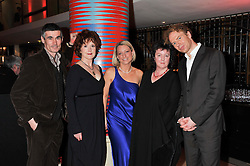 Left to right, 2011 Costa Book Awards finalists ANDREW MILLER, MOIRA YOUNG, CHRISTIE WATSON, CAROL ANN DUFFY and MATTHEW HOLLIS at the 2011 Costa Book Awards held at Quaglino's, 16 Bury Street, London on 24th January 2012.