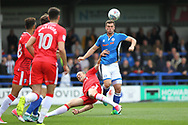 Harrison McGahey during the EFL Sky Bet League 1 match between Rochdale and Gillingham at Spotland, Rochdale, England on 23 September 2017. Photo by Daniel Youngs.