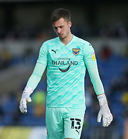 Oxford United's Jack Stevens<br /> <br /> Photographer Rob Newell/CameraSport<br /> <br /> Sky Bet League One Play-Off Semi-Final 1st Leg - Oxford United v Blackpool - Tuesday 18th May 2021 - Kassam Stadium - Oxford<br /> <br /> World Copyright © 2021 CameraSport. All rights reserved. 43 Linden Ave. Countesthorpe. Leicester. England. LE8 5PG - Tel: +44 (0) 116 277 4147 - admin@camerasport.com - www.camerasport.com