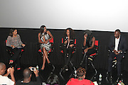 September 20, 2012- New York, New York:  (L-R) Media Personality/Writer Cori Murray, Actress Gabrielle Unioin, Television Writer/Producer Mara Brock Akil, Actress Tika Sumpter and Actor Robert Brooks attend the 2012 Urbanworld Film Festival Opening night premiere screening of  ' Being Mary Jane ' presented by BET Networks held at AMC 34th Street on September 20, 2012 in New York City. The Urbanworld® Film Festival is the largest internationally competitive festival of its kind. The five-day festival includes narrative features, documentaries, and short films, as well as panel discussions, live staged screenplay readings, and the Urbanworld® Digital track focused on digital and social media. (Terrence Jennings)