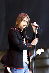 Julian Casablancas of The Strokes at T in the Park Sunday 11 July,2004, at Balado, Fife...