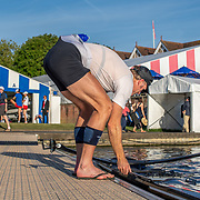 Mahé Drysdale is knocked out in the frist round in the Diamond Single Sculls competition<br /> <br /> Racing at the Henley Royal Regatta on The Thames river, Henley on Thames, England. Thursday 4 July 2019. © Copyright photo Steve McArthur / www.photosport.nz