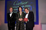 Lady Legard, Roger Sidebottom and Sir Tatton Sykes.  The 2004 Cartier Racing awards, Four Seasons Hotel. London. 17 November 2004. ONE TIME USE ONLY - DO NOT ARCHIVE  © Copyright Photograph by Dafydd Jones 66 Stockwell Park Rd. London SW9 0DA Tel 020 7733 0108 www.dafjones.com