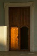 Close up of opened door, Cuba, Havana