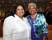 ATLANTA, GA - MAY 13:  Vera Clemente, widow of Roberto Clemente (L) and Billye Aaron, wife of Hank Aaron, attend the Baseball and the Civil Rights Movement Roundtable panel at Ebenezer Baptist Church on May 13, 2011 in Atlanta, Georgia.  (Photo by Mike Zarrilli/Getty Images)