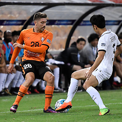 BRISBANE, AUSTRALIA - FEBRUARY 21: Brandon Borrello of the Roar controls the ball during the Asian Champions League Group Stage match between the Brisbane Roar and Muangthong United FC at Suncorp Stadium on February 21, 2017 in Brisbane, Australia. (Photo by Patrick Kearney/Brisbane Roar)