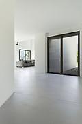 architecture, interior modern loft, empty hall view