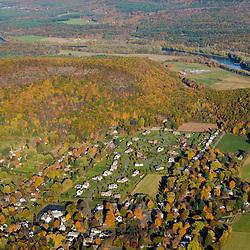 Farms near the Connecticut River in Deerfield, Massachusetts.