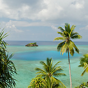 Panoramic view over a beautiful lagoon.