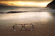Colombo, Sri Lanka. At Galle Face Hotel Beach next to Hotel, Sir Arthur C Clarke's glasses. ACC is Best known for the book 2001: A Space Odyssey.