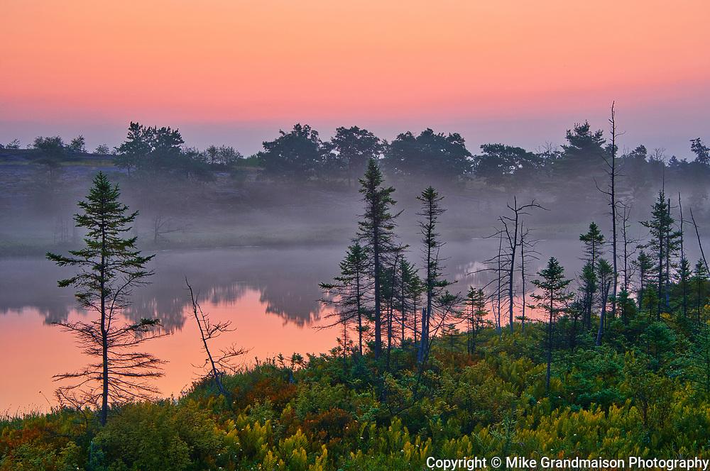 Dawn at Highland Pond in the Torrance Barrens<br />Torrance Barrens Dark Sky Reserve<br />Ontario<br />Canada
