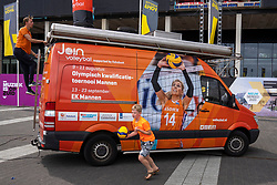 11-08-2019 NED: FIVB Tokyo Volleyball Qualification 2019 / Side Events, Rotterdam<br /> Before the start of the matches, the Ahoy square was turned into a play paradise. Beautiful side events games were available for the youth