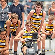 4:00 PM- Concept2 #38 Heat 2- Men?s 500m U15<br /> <br /> NZ Indoor Champs, raced at Avanti Drome, Cambridge, New Zealand, Saturday 23rd November 2019 © Copyright Steve McArthur / @rowingcelebration www.rowingcelebration.com