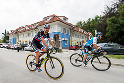 Luka Mezgec of Mitchelton Scott and Guy Niv of Israel Cycling Academy during 3rd Stage of 25th Tour de Slovenie 2018 cycling race between Slovenske Konjice and Celje (175,7 km), on June 15, 2018 in  Slovenia. Photo by Matic Klansek Velej / Sportida