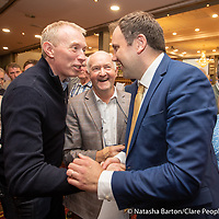 Timmy Dooley congratulates Cathal Crowe