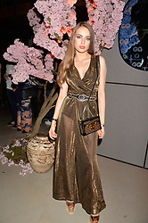 Xenia Touchmi at the Warner Music Group and British GQ Summer Party in partnership with Quintessentially held at Nobu Shoreditch, Willow StreetLondon England. 5 July 2017.<br /> Photo by Dominic O'Neill/SilverHub 0203 174 1069 sales@silverhubmedia.com