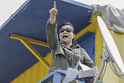 May 5, 2018 - Paju, GYEONGGI, SOUTH KOREA - May 5, 2018-Paju, South Korea-North Korean defectors held press conference about 'Opposite South Korea unification policy' at near Odusan OP in Paju, South Korea. (Credit Image: © Ryu Seung-Il via ZUMA Wire)