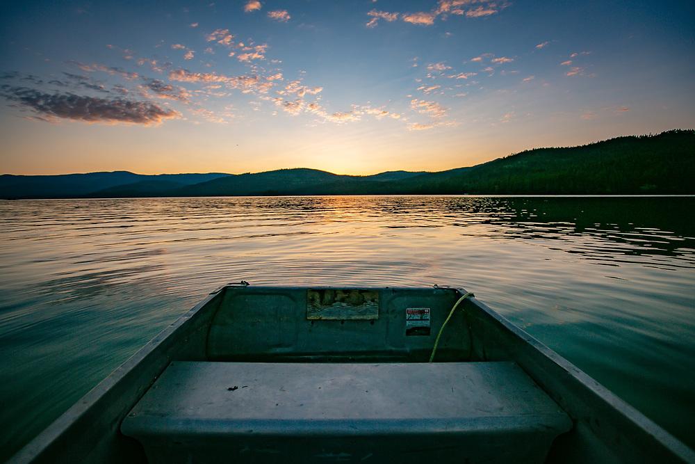 Ashley Lake Montana quite sunset