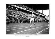 Ronnie Delaney beating Derek Ibbotson before a delighted crowd at Lansdowne Road, Dublin.<br /> <br /> 29/07/1957<br /> <br /> 29th July 1957