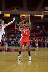 26 February 2009: Skye Jackson. The Braves of Bradley  and the Illinois State Redbirds battled it out on Doug Collins Court inside Redbird Arena on the campus of Illinois State University, Normal Il.