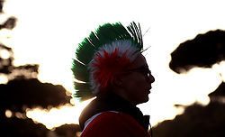 A Italy fan wearing a wig before the Guinness Six Nations match at The Stadio Olimpico, Rome.