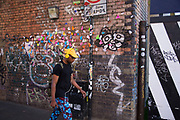 Street art with cutout paper butterflies by Sell Out in the Brick Lane area of Shoreditch, East London, United Kingdom. Street art in the East End of London is an ever changing visual enigma, as the artworks constantly change, as councils clean some walls or new works go up in place of others. While some consider this vandalism or graffiti, these artworks are very popular among local people and visitors alike, as a sense of poignancy remains in the work, many of which have subtle messages. (photo by Mike Kemp/In Pictures via Getty Images)