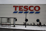 Tesco in snow, Vauxhall , 1 March 2018