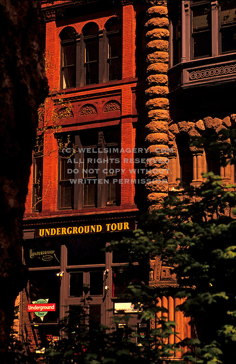 Image of Seattle's famous Underground Tour entrance in Pioneer Square, Seattle, Washington, Pacific Northwest by Andrea Wells