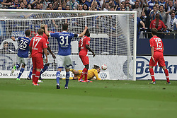 01.09.2012, BayArena, Leverkusen, GER, 1. FBL, Bayer 04 Leverkusen vs FC Augsburg, 2. Runde, im Bild Simon Jentzsch (FC Augsburg, re.) muss das Tor zum 1:0 hinnehmen, daneben v.l. Klaas-Jan Huntelaar (FC Schalke 04), Marcel de Jong (FC Augsburg), Aristide Bance (FC Augsburg), Julian Draxler (FC Schalke 04), Gibril Sankoh (FC Augsburg), Aktion // during the German Bundesliga 2nd round match between Bayer 04 Leverkusen and FC Augsburg at the BayArena, Leverkusen, Germany on 2012/09/01. EXPA Pictures © 2012, PhotoCredit: EXPA/ Eibner/ Oliver Vogler..***** ATTENTION - OUT OF GER *****
