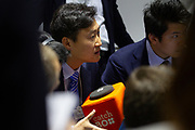 A participant asks a question during   the session: An Innovator's Journey: Using Voice Recognition to Connect to Everything at the World Economic Forum - Annual Meeting of the New Champions in Tianjin, People's Republic of China 2018.Copyright by World Economic Forum / Greg Beadle