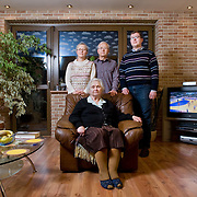 Ewa 58, Zdzislaw 59, Grzegorz 29, Hildegarda 84<br /> <br /> Rybnik, higher income, higher education<br /> <br /> Hildegarda is a pensioner now. She was forced labour in Germany during WWII, then she was working in a bag factory and then in a cable factory. <br /> Zdzislaw is an engineer, technical director of pipe factory. <br /> Ewa is a pensioner.  She was working as a sports teacher in local school. <br /> Grzegorz works for an NGO