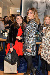 Left to right, DANIELLA HELAYEL and SAFIA EL MAQUI at a party to celebrate the launch of the APM Monaco Flagship Store at 3 South Molton Street, London on 11th February 2016
