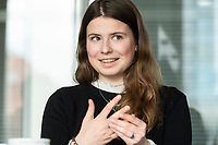 12 MAR 2020, BERLIN/GERMANY:<br /> Luisa Neubauer, Klimaschutzaktivistin, Fridays for Future, waehrend einem Interview, Redaktion Rheinische Post<br /> IMAGE: 20200312-01-058
