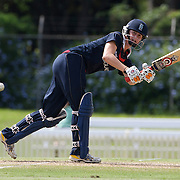 Lydia Greenway batting during the match between England and New Zealand in the Super 6 stage of the ICC Women's World Cup Cricket tournament at Bankstown Oval, Sydney, Australia on March 14 2009, England won the match by 31 runs. Photo Tim Clayton
