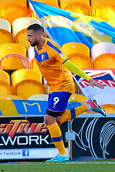 Jordan Bowery of Mansfield Town celebrates his opening goal - Mandatory by-line: Ryan Crockett/JMP - 27/02/2021 - FOOTBALL - One Call Stadium - Mansfield, England - Mansfield Town v Morecambe - Sky Bet League Two