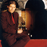 Crispin Glover at home in Los Angeles, Ca..2000