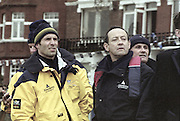 London, Great Britain, <br /> Oford coaching staff . left to right. Derek CLARK, Sean BOWDEN, Dan TOPOLSKI and Steve ROYAL.<br /> 147th Oxford vs Cambridge Varsity Boat Race, Over the Championship Course, Putney To Mortlake. 24.03.2001<br /> <br /> [Mandatory Credit: Peter SPURRIER/Intersport Images] [Mandatory Credit; Peter SPURRIER/Intersport Images]<br /> <br /> 20010324 University Boat Race, Putney to Mortlake, London, Great Britain.