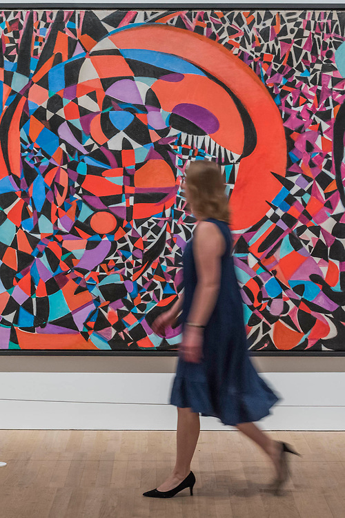 Break of the Atom and Vegetal Life, 1962  - Princess Fahrelnissa Zeid: the UK's first retrospective of a pioneering artist best known for her large-scale colourful canvases, fusing European approaches to abstract art with Byzantine, Islamic and Persian influences. The exhibition is at Tate Modern from 13 June – 8 October 2017.