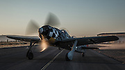 FW 190 replica of the Erickson Aircraft Collection taxiing out for a photo mission.