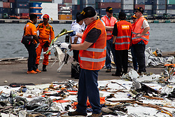 November 1, 2018 - North Jakarta, Jakarta, Indonesia - Jakarta, Indonesia, 01 November 2018 : Group of National Transportation Safety Board from United States and Indonesian Committe of Safety Transportation visit Tanjung Priok harbour to investigate the debris of Lion Air Plane Crash at Tanjung Karang Sea-West Java. NTSB help to investigate the cause of the plane crash. (Credit Image: © Donal Husni/ZUMA Wire)
