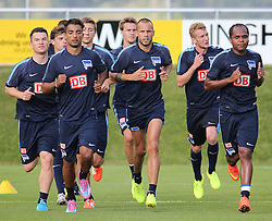 04.08.2014, Athletic Area, Schladming, AUT, Hertha BSC, im Bild Spieler beim Laufen // during a training session of the German Bundesliga Club Hertha BSC at the Athletic Area, Austria on 2014/08/04. EXPA Pictures © 2014, PhotoCredit: EXPA/ Martin Huber