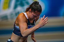 Naomi Sedney in action on the 60 meters during limit matches to be held simultaneously with the Dutch Athletics Championships on 13 February 2021 in Apeldoorn