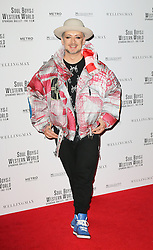 © Licensed to London News Pictures. 30/09/2014, UK. Boy George, Soul Boys Of The Western World, Spandau Ballet: The Film - European film premiere, Royal Albert Hall, London UK, 30 September 2014. Photo credit : Richard Goldschmidt/Piqtured/LNP